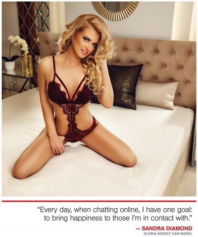 Gloria Agency Model in XBIZ World - January 2018 Issue